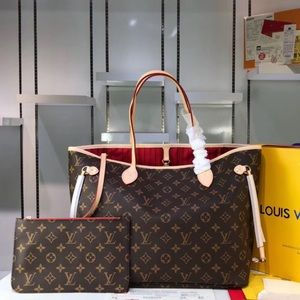 Louis Vuitton neverfull monogram tote bag